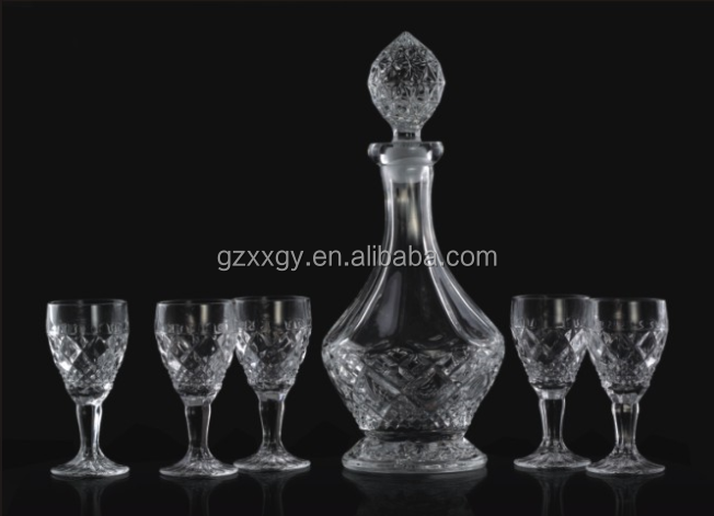 lead free crystal decanter whiskey,wine set for sale