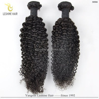 2015 Hot Selling Good Feedback No Shedding No Tangle Unprocessed Full Cuticle Virgin human hair kinky curly afro