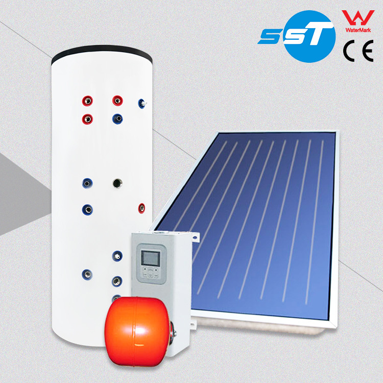Pressurized heat pipe flat plate dc solar hot water boiler kit for school