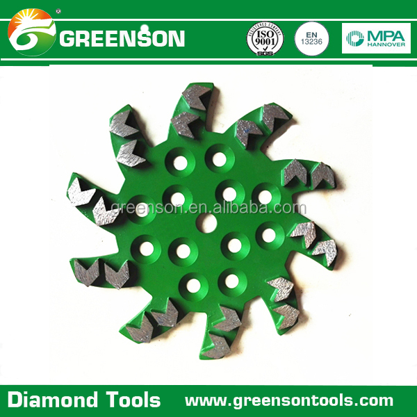 10 inch 250mm arrow segment type diamond grinding cup wheel for concrete