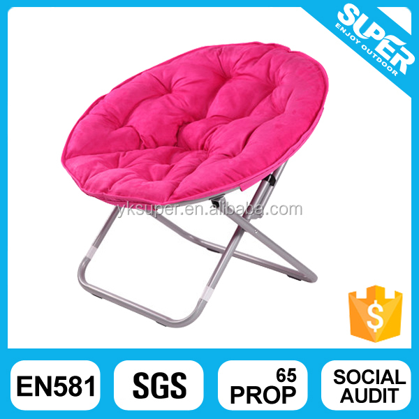 Outdoor Folding Beach Round Lounge Chair Camping Moon Chair