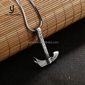 2017 Latest Designs Hip Hop Stainless Steel Hammer Necklace Wholesale