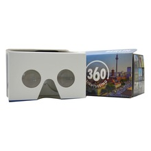 New Christmas promotion gift google cardboard vr glasses , wholesale good price , virtual reality custom vr headset