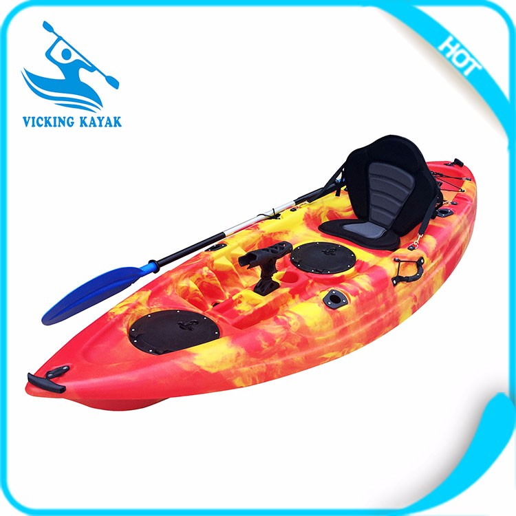2017 New designed small cheap fishing kayak with 4 fishing rod holders