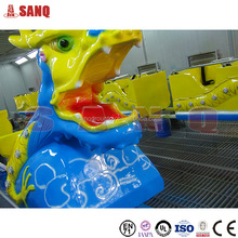 Kids amusement rides dragon ride on trailer for sale