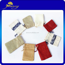 best selling Fashion Mini linen Gift Bags