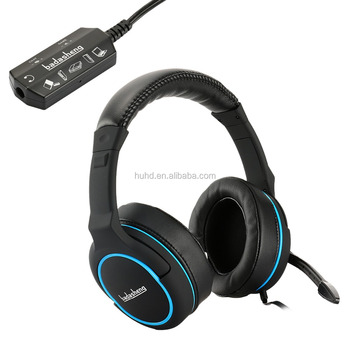 New multi-functions tablet stereo gaming headphone overhead gaming headset for PS3 PS4 Xbox one with detachable controller