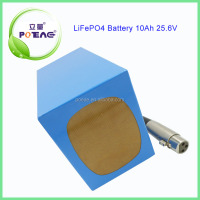 25.6V 10Ah rechargeable lithium phosphate battery for electric golf trolley