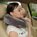 U-Shape 100%polyester office work neck support fashionable travel pillow