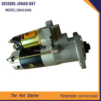 2015 engine parts heavy truck starter motor of electric coal starter for E200B