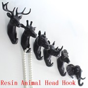 2016 Newest Design Resin Animal Head Wall Hook Macarons Colour Big Size