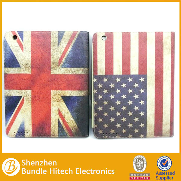 For iPad mini flip leather cover case