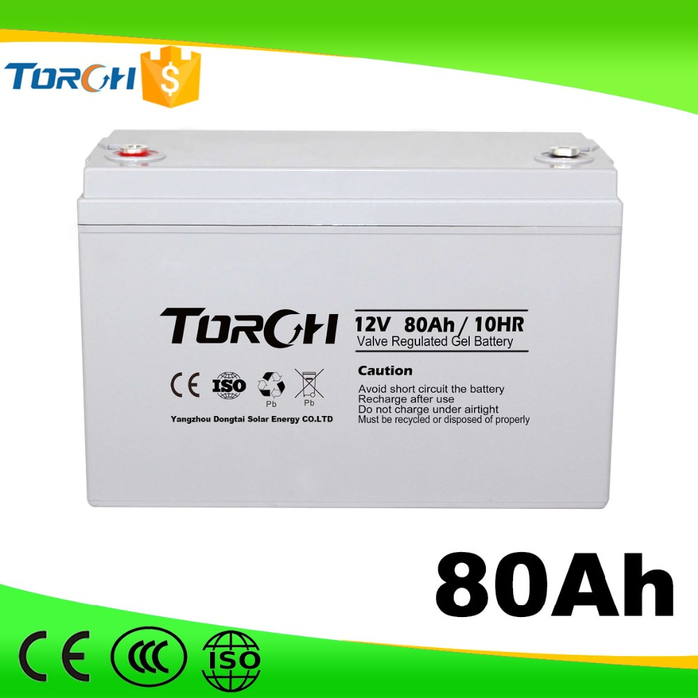 2016 12V 80Ah Low Self-discharge battery for solar panel manufacturering for sale