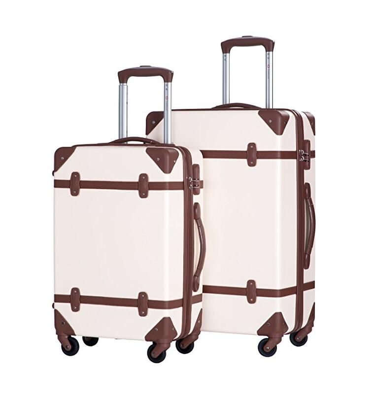 British Style Popular ABS 20/24 Inch Vintage Luggage