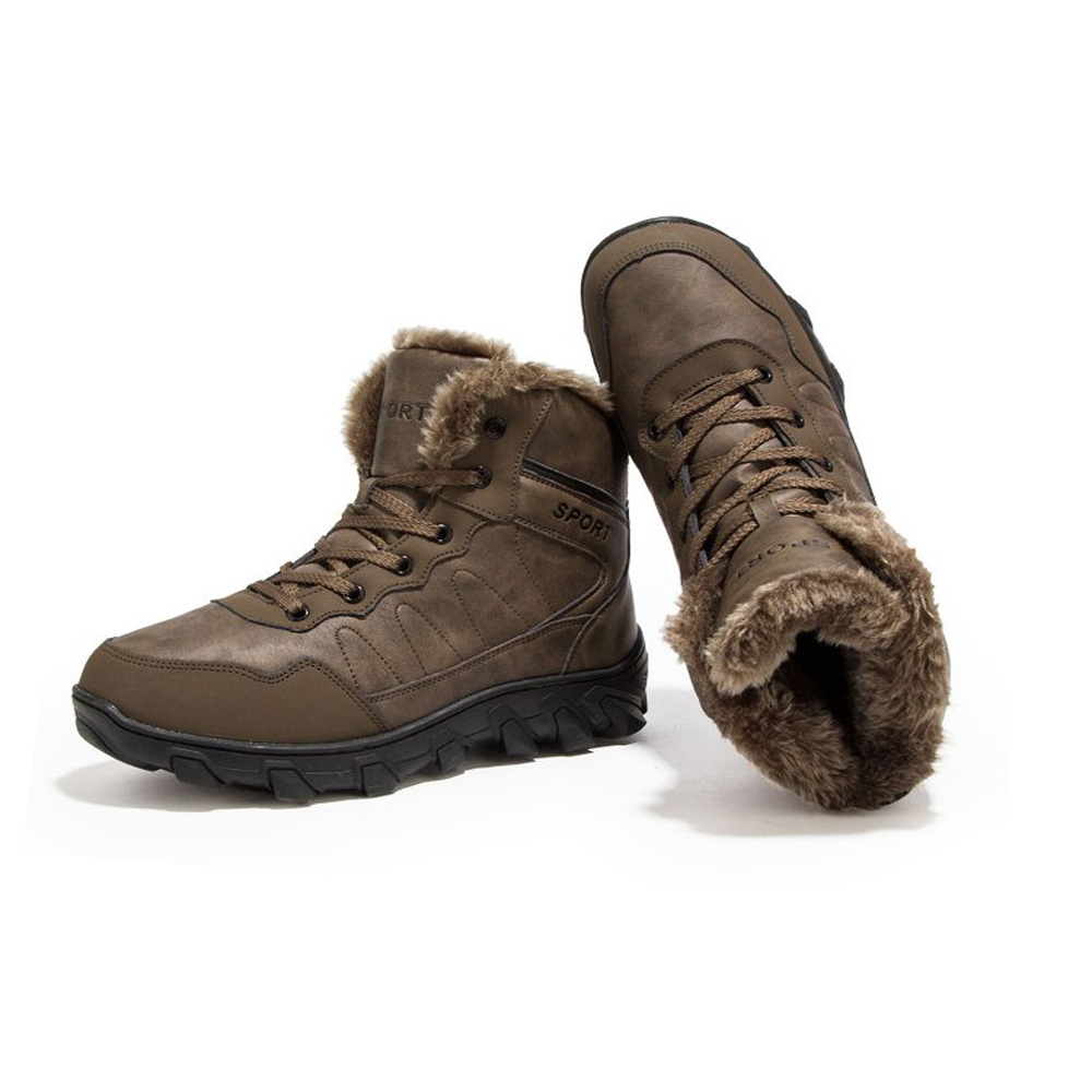 New Lace up Warm Men PU Upper High Quality Rubber Sole Outdoor Winter <strong>Boots</strong>