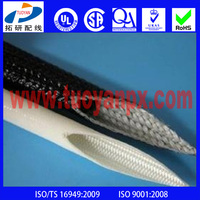 600v silicone rubber insulation coated braided fiberglass sleeve