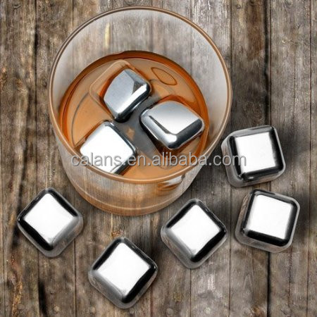 Hot Sale Stainless Steel Whisky Stone Ice Cube Chilling Stone