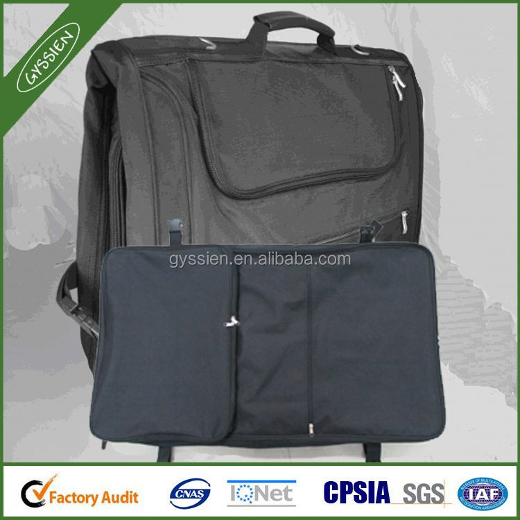 Travel foldable garment bag with ID card holder, Promotional wholesale cheap suit cover