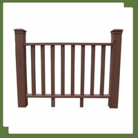 durable use anti-UV outdoor wpc fence post