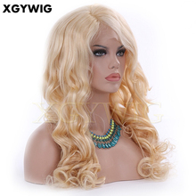 Wholesale top quality 100% virgin human hair long blonde body wave glueless full lace silk top base wigs for white women