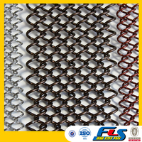 Decorative Metal Fabric Coil Drapery/Fireplace Mesh Curtain