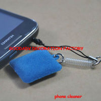 Mobile phone screen cleaner charm