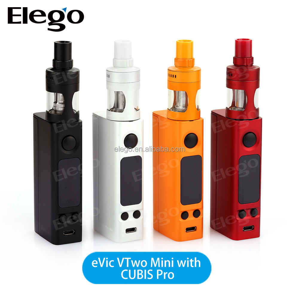 Joyetech eVic VTwo Mini mod with Real Time Clock, Upgraded Joye eVic-VTC Mini with cubis pro kit