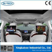 10.1 inch capacitive touch screen android car headrest monitor for Audi A8 built-in AV input wifi 3g