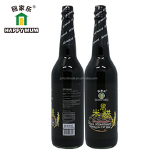 Chinese OEM Black Rice Vinegar 625ml Cooking and Salad