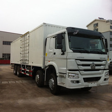 SINOTRUK diesel engine type 8x4 van closed HOWO cargo truck price