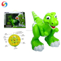 Newest RC Infrared walking plastic dinosaur toys with smoke spray function