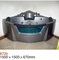 150x150 Black color whirlpool bathtub with head rest