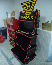 store retail cardboard display rack for puzzle games