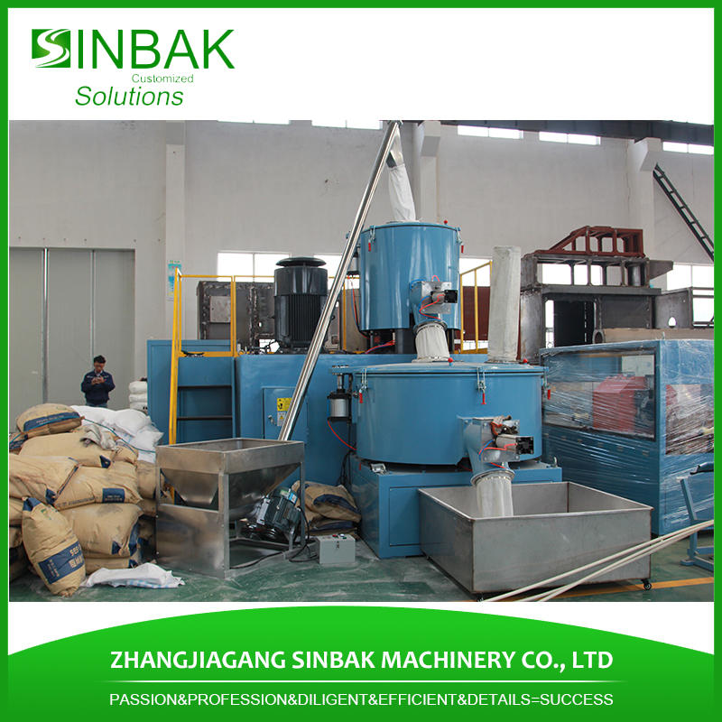 Heat and cool high speed mixer motor specification machine plastic raw material use mixing unit