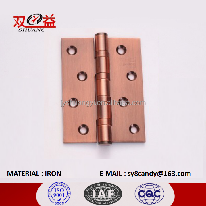 Popular Top Grade Various sizes Antique Red Bronze Iron Hinges For Home, Office and Hotel
