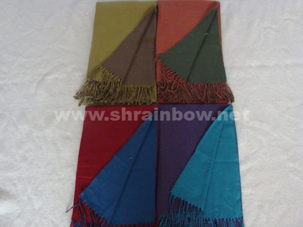 acrylic double-sided scarf,plain stole scarf ,solid color stoles and shawls