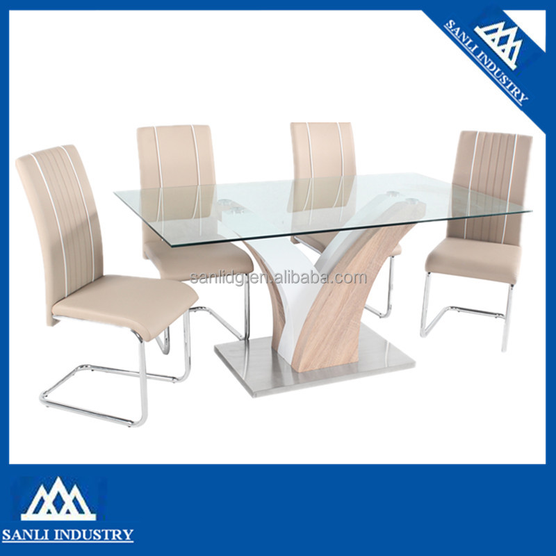 tempered glass dining table rectangular top tables
