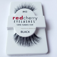 red cherry #43 real human hair eyelashes extension ,custom package