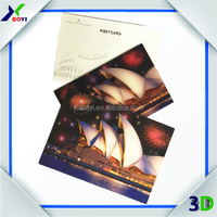 High quality 3d lenticular art picture/3d lenticular postcard printing