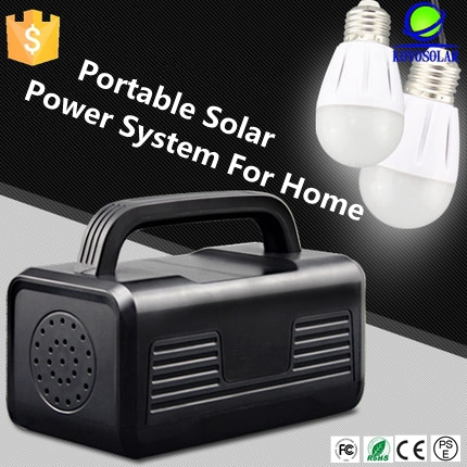 new portable solar panel kit light set system solar panel kit with USB mobile phone charger solar panel