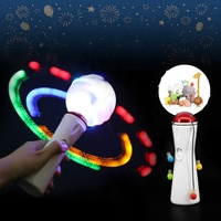 Hot Selling Assorted Colors LED Spinning Ball Stick For Christmas Theme Party Light Up Toys LED Glowing Spinning Stick Ball