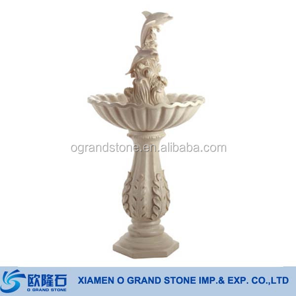 Garden Stone Water Fountain Marble Dolphin Fountain