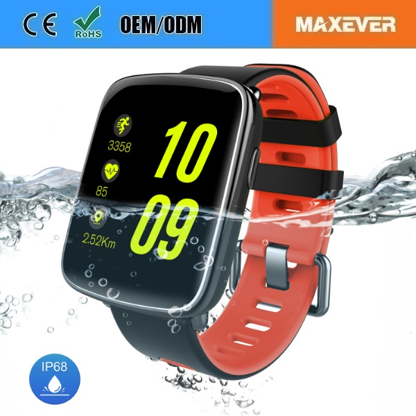 IP68 Smartwatch Waterproof GV68 Smart Watch for iPhone and Android