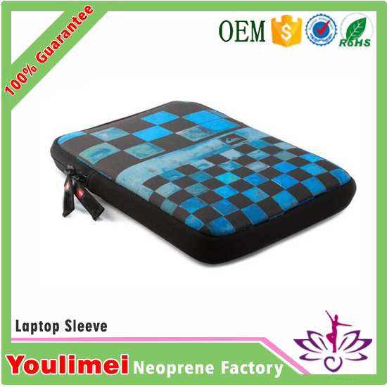 Portable custom printed neoprene notebook computer travel case