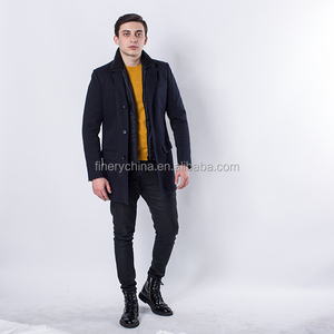 2018 High Design Hot sales Men Casual Black Inner Tank QuiltingJacket/Coat