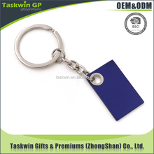 matching pantone color chart painting blue cheap metal keychain for promotion