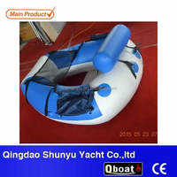 one person mini inflatable fishing boat