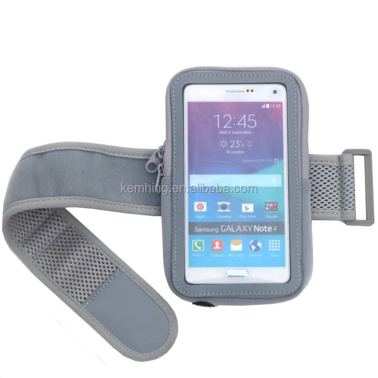 Neoprene fabric armband case for smart phone sports arm band bag