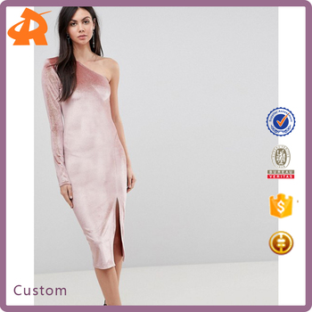 custom make one shoulder sexy night dress,high quality new model girl dress