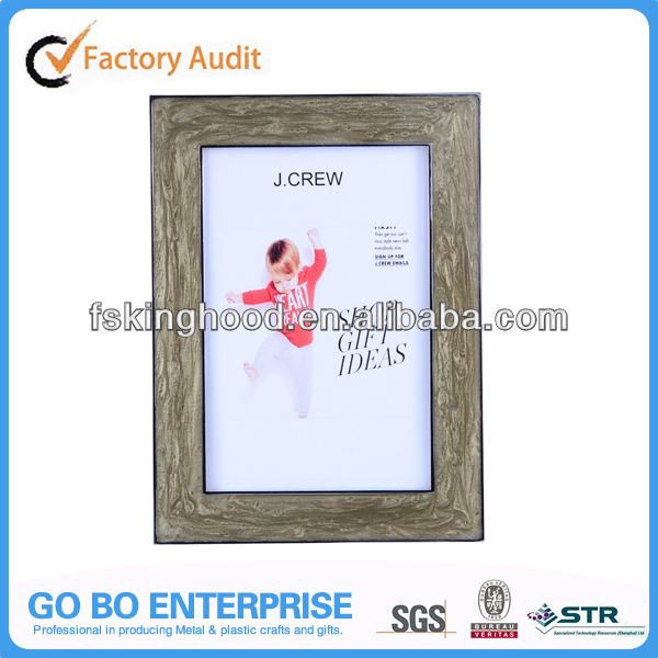 Metal enamel tabletop picture photo frame